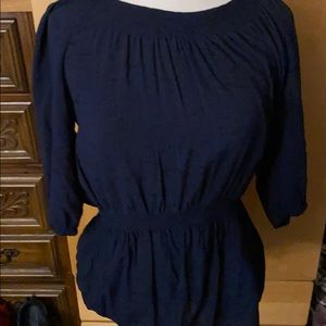 Dark Blue shirt with elbow length sleeves